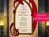 Party Invitation Template Game Of Thrones Game Of Thrones Inspired Dragon Invitation Dragon Invitation