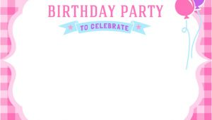 Party Invitation Template Girl Free Girls Birthday Invitation Printables Mama Walker