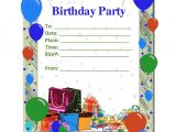 Party Invitation Template Google Docs Birthday Party Invitation Template Birthday Party