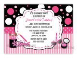 Party Invitation Template Mac Glamour Make Up Birthday Party Invitation You Print