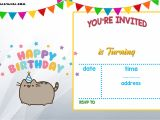 Party Invitation Template Online Free Printable Pusheen Birthday Invitation Template Free