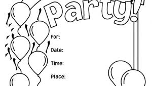 Party Invitation Template Pages Birthday Party Invitations Coloring Page Crayola Com