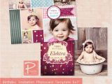 Party Invitation Template Photoshop 1st Birthday Invitation Templates Photoshop Places to