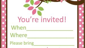Party Invitation Template Printable Sleepover Party Invitations