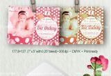 Party Invitation Template Psd Birthday Party Pink Invitation Psd Template by