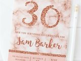 Party Invitation Template Rose Gold 10 Rose Gold Birthday Invitations 18th 21st 30th 40th