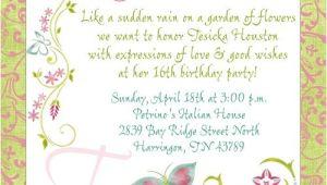 Party Invitation Template Text Birthday Invitation Message