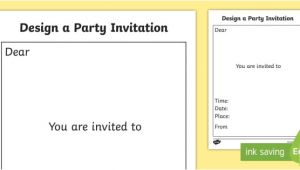 Party Invitation Template Twinkl Party Invitation Templates Party Invitation Templates