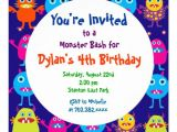 Party Invitation Template Uk Cute Monster Birthday Party Invitation Templates Zazzle