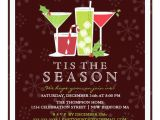 Party Invitation Template Uk Holly Jolly Christmas Cocktail Party Invitation Zazzle