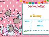 Party Invitation Template Worksheet Free Mermaid Pusheen Invitation Free Printable