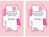 Party Invitation Template Worksheet Free Printable Birthday Sleepover Invitations
