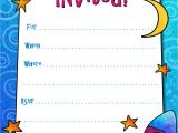Party Invitation Template Worksheet Free Printable Boys Birthday Party Invitations Kids