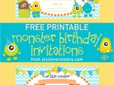Party Invitation Template Worksheet Free Printable Monster Birthday Invitations Six Clever