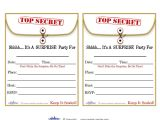 Party Invitation Template Worksheet Free Printable Surprise Birthday Party Invitations