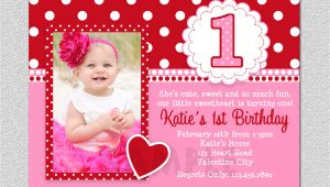 Party Invitation Template Year 1 Free Printable 1st Birthday Invitations Girl Free