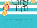 Party Invitation Templates for Free Mckissick Creations Summer Party Invitation Free Printable