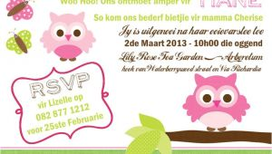 Party Invitation Templates In Afrikaans Owl Baby Shower Invitation Afrikaans Get Crafty