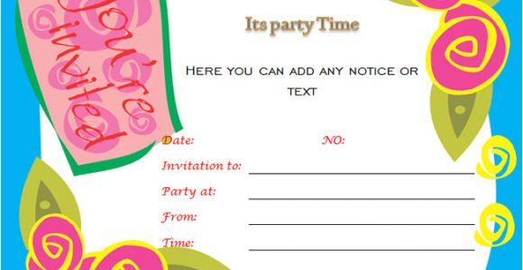 Party Invitation Templates Word 40th Birthday Ideas Birthday Invitation Templates for