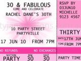 Party Invitation Ticket Template Concert Ticket Invitations Template Free Birthday Ideas