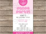 Party Invitation Ticket Template Dance Party Ticket Invitations Template Pink Birthday
