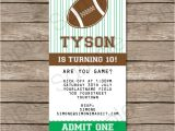Party Invitation Ticket Template Football Ticket Invitation Template Ticket Invitations