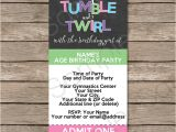 Party Invitation Ticket Template Gymnastics Party Ticket Invitations Birthday Party