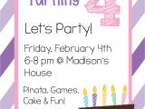 Party Invitation Video Template Free Printable Birthday Invitation Templates