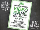 Party Invitation Video Template Printable Video Game Birthday Invitation by Jazzhandspaperco