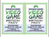 Party Invitation Video Template Printable Video Game Birthday Invitation Template Diy