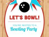 Party Invite Template Bowling Bowling Party Free Printable Birthday Invitation