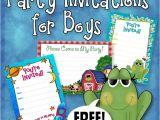 Party Invite Template Boy Free Printable Boys Birthday Party Invitations Boy