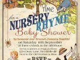 Party Rhymes Invitations Nursery Rhyme Baby Invitation
