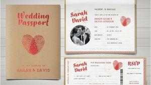 Passport Wedding Invitation Template 29 Vintage Wedding Templates Editable Psd Ai format