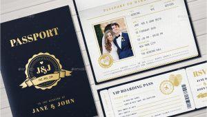 Passport Wedding Invitation Template Passport Wedding Invitation by Vector Vactory Graphicriver