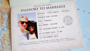 Passport Wedding Invitations Cheap Passport Wedding Invitations Wedfest