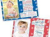 Patriotic First Birthday Invitations Patriotic 4th Of July First Birthday Invitation by