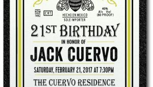 Patron Party Invitation Patron Tequila 21st Birthday Invitations Di 497 Custom