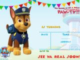 Paw Patrol Birthday Invitation Template Free Paw Patrol Birthday Invitation Ideas Free Printable