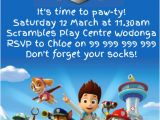Paw Patrol Birthday Invitation Template Free Paw Patrol Party Invitation Template Postermywall