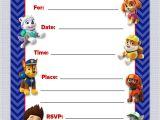 Paw Patrol Birthday Invitations Free Download Luvibee Kids Pany