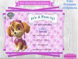 Paw Patrol Birthday Invitations Free Download Paw Patrol Birthday