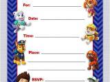 Paw Patrol Birthday Invitations Free Paw Patrol Birthday Invitations Free Printables