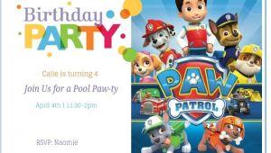 Paw Patrol Birthday Invites Free Free Printable Paw Patrol Birthday Invitation Ideas
