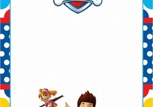 Paw Patrol Party Invitation Template Free Printable Paw Patrol Invitation Template Paw Patrol