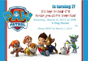 Paw Patrol Party Invitation Template Mom 39 S tot School Paw Patrol Puppy Party