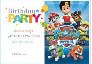 Paw Patrol Party Invitation Template Paw Patrol Birthday Invitation Ideas Free Printable