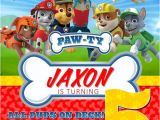 Paw Patrol Party Invitation Template Paw Patrol Birthday Invitations Free Printable