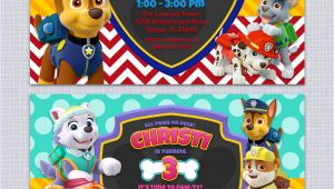 Paw Patrol Party Invitation Template Paw Patrol Birthday Invitations Free Printables