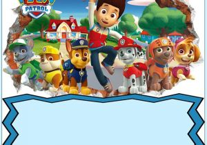 Paw Patrol Party Invitation Template Paw Patrol Invitation Card Design Coolest Invitation
